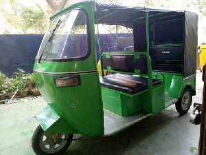 Green Electric Auto Rickshaw