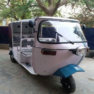 White Electric Auto Rickshaw