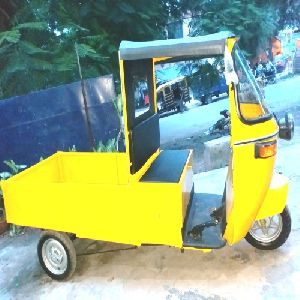 Yellow Electric Rickshaw Loader
