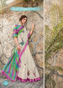 LiNen Digital saree