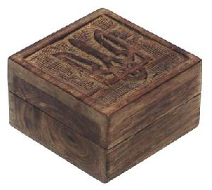 Carved Wooden Boxes