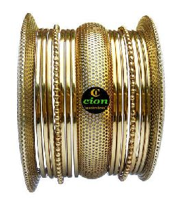 Alloy Gold Plated Bangle Set