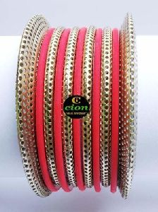 Colored Gold Plated Bangle Set