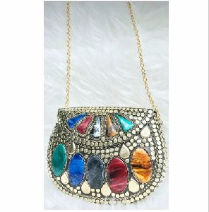 Resin Brass Alloy Clutch Bags