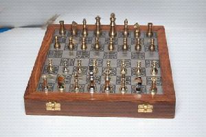 Brass Chess Board Set