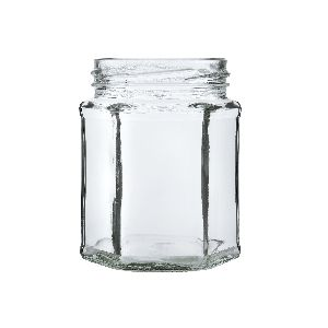 250gm Hexagon Glass Jar