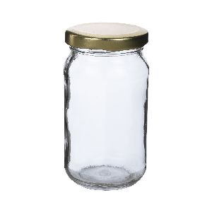 250gm Honey Round Glass Jar