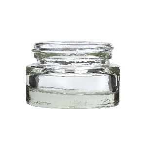 25gm Cream Glass Jar