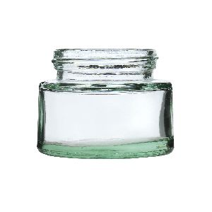 50gm Cream Glass Jar