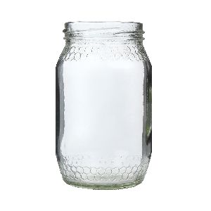 Honey Comb Glass Jar