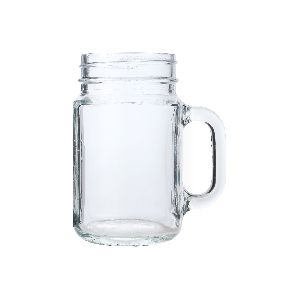 Mason Handle Glass Jar