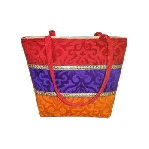 Striped Jute Shopping Bags