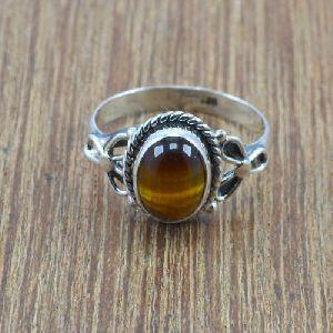 92.5 Sterling Silver Gemstone Ring