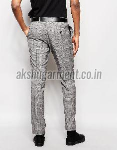 Checkered Cotton Trouser
