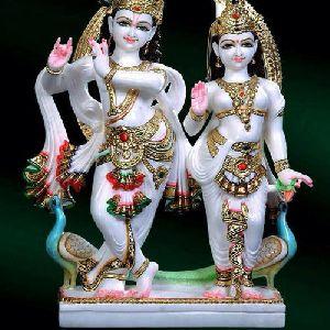 Marble Radha Krishan Statue
