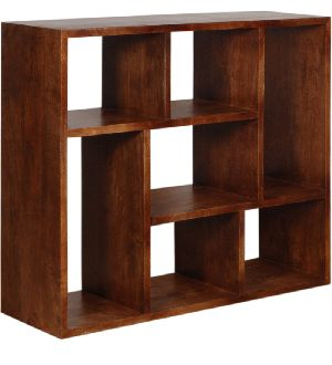 Mango Wood Display Unit Cum Book Shelves (SBA011)