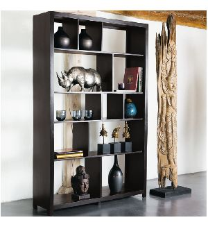 Mango Wood Display Unit Cum Book Shelves (SBA099)