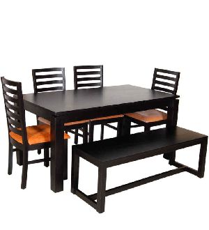 Mango Wood 6 Seater Dining Table Set