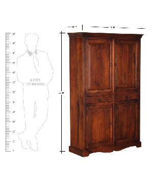 Mango Wood Antique Wardrobe