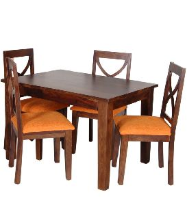 Mango Wood 4 Seater Dining Table Set