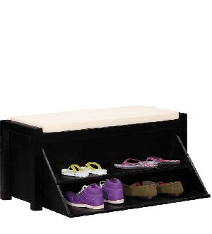 Mango Wood Shoe Rack (SBA037)