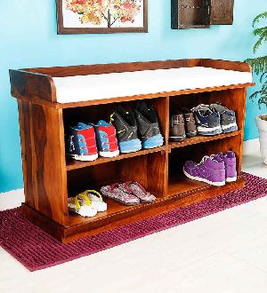 Mango Wood Shoe Rack (SBA076)