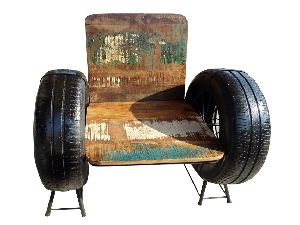 Reclaimed Wood Armchair