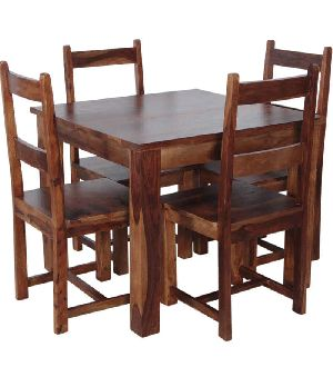 Sheesham Wood 4 Seater Dining Table Set