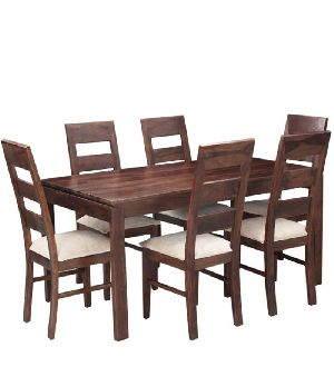 Sheesham Wood 6 Seater Dining Table Set