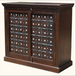 Mango Wood Storage Cabinets