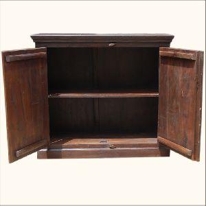 Mango Wood Storage Cabinets