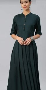 Ladies Plain Rayon Kurti