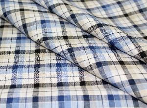 Checkered Linen Fabric