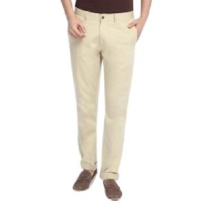 Mens Brown Cotton Trouser