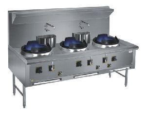 Three Burner Chinese Cooking Range
