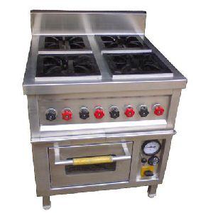 Three Burner Continental Cooking Range