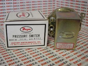 "Dwyer Series 1900-1 Compact Low Differential Pressure Switch Range 0.40-1.6"" W.C"