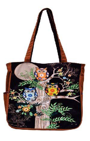 GAJB-118M Owl Print Medium Sized Bag