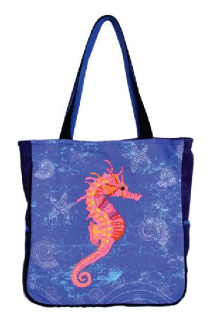 GAJB-1333M Sea Horse Print Medium Sized Bag
