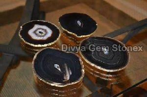 Black Agate Coasters