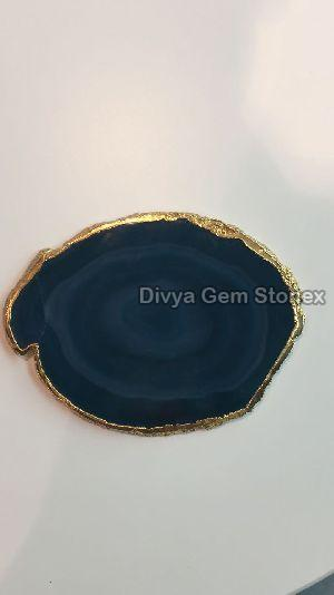 Blue Agate Coasters 01