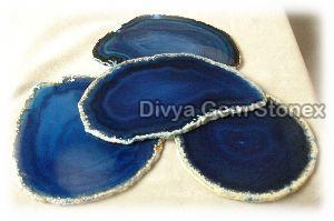 Blue Agate Coasters 02
