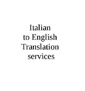 Italiain to English Language Translation