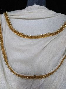 Ivory Gold Lace Stole