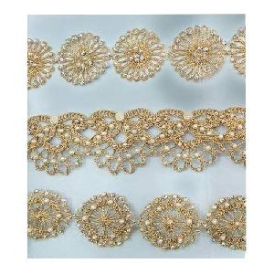 Fancy Beaded Zari Lace