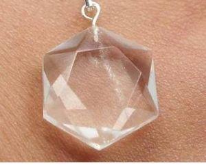 David Star Crystal Stone Pendant