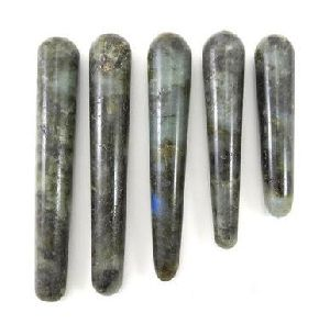 Labradorite Stone Smooth Faceted Massage Wand