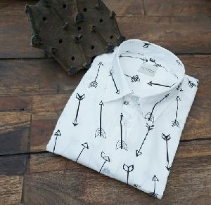 Mens Hand Block Printed Shirts