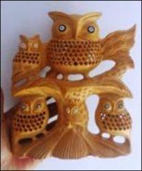 Wooden Undercut Owl