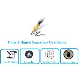 Class 2A Individual Digital Signature Certificate